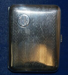Elgin Art Deco Sterling Silver Cigarette Case 79 Grams