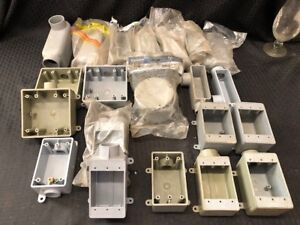 Carlon Pvc Electrical Assorted Pieces Lot Of 21