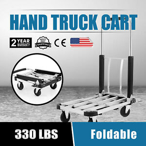 Cart Folding Dolly Push Truck Hand Collapsible Trolley Luggage 330 Lbs Moving