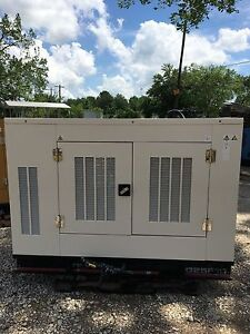 Olympian Propane Generator 25kw Single Phase Weather Proof Enclosure 123 Hours