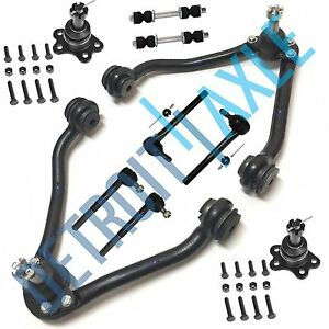 1995 1999 Chevy C1500 Suburban 2wd Front Upper Control Arm Tierod Kit 10pc