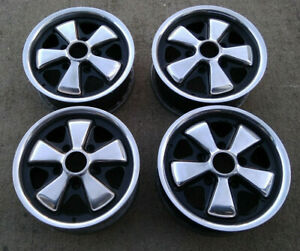 4 Genuine Porsche Fuchs Factory Oem Polished Rims 5 5x14 With Center Caps