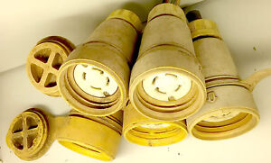 3 Woodhead Watertite Plugs Nema L5 20r 20a 125v 2 Pole 3 Wire Locking