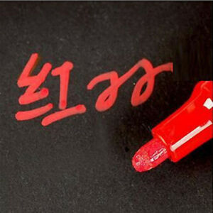 1pcs Red Permanent Waterproof Car Tyre Tire Tread Rubber Paint Markers Pen