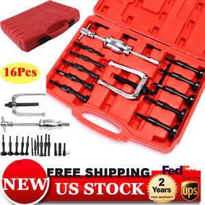16pcs Bush Bearing Puller Blind Hole Pilot Internal Extractor Remover Tools To