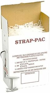 Pac Strapping Products Sp p Strapping Kit Plastic Buckles Polypropylene 3000 Ft