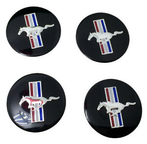 Ford Mustang Shelby Svt Cobra Running Horse Pony Center Cap Decals Emblems