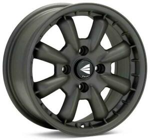 Enkei Compe 15x5 5 4x130 17mm Matte Gunmetal Wheels Set Of 4