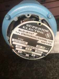 Superior Electric Slo syn Synchronous stepping Motor 120v 1 1amp 50 60hz