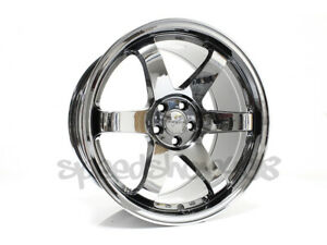 Rota Grid Wheels Titanium Chrome 18x9 5 38 5x100 For Scion Tc 05 10 Wrx 02 14