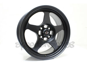 Rota Slipstream Wheels Flat Black 16x7 40 4x100 67 1 Dc Eg Rims Integra Civic