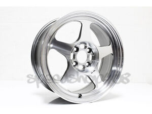Rota Slipstream Wheels Polish 16x7 40 4x100 67 1 Ef Dc Eg Rims Integra Civic