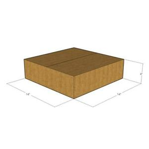 100 New Corrugated Boxes 14 X 14 X 4 200 32 Ect L X W X H