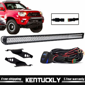 42 Led Light Bar 240w Cree Spot Flood Combo Offroad Driving For Toyota Tacoma