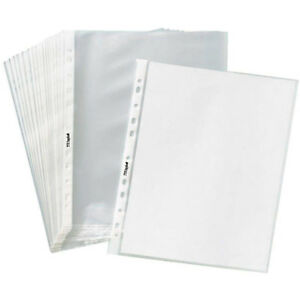 200 1000 Clear Sheet Page Protectors Plastic Office Document Sleeves Non Glare