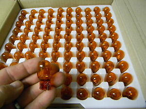 100 New Toshiba Wy21w Amber Light Bulbs 12v 21w 7440 T20 582 Canbus Error Free