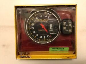 Autometer Ultimate Ii Tachometer 5 4 Stage Shift Lite W 2 Channel Playback
