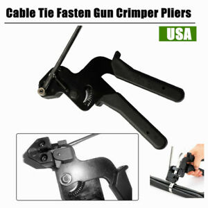 Stainless Steel Cable Tie Fasten Pliers Crimper Tensioner Cutter Tool Us Stock