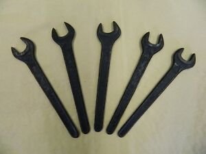 5pc 13mm Spanner Flat Wrench Thin 13 Mm Black
