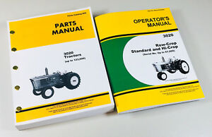Operator Parts Manual Set For John Deere 3020 Tractor Catalog Sn Up To 67 999