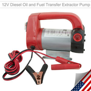 Electric Diesel Oil Transfer Pump 12v 10gpm Dc Fuel Kerosene Extractor Motor Usa