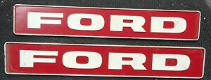 Pair 1976 77 78 79 Ford Tractor 6600 4000 Emblems Oem Xc407609 Rat Hot Rod Truck