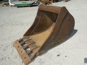 Used Wain Roy 24 Tooth Bucket W Weld On Smooth Edge For Excavator Backhoe