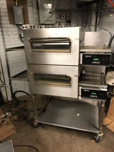 Lincoln Impinger Double Stack Conveyor Pizza Oven Gas Pizza Oven