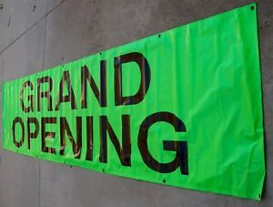 33 Inch X 12 Foot Grand Opening Banner Outdoor Sign Open Retail Store Huge