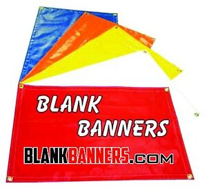 Lot Of 10 White 2ft X 6 Ft Blank Banners Sign 13oz Sew With Grommets 2x6