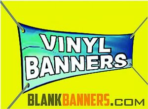 Lot Of 5 White 2ft X 4 Ft Blank Banner Sign 13oz 2x4 Sewn With Grommets