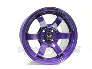 Rota Grid Concave Wheels Violet Purple 15x8 20 4x100 For Eg Integra Civic Miata