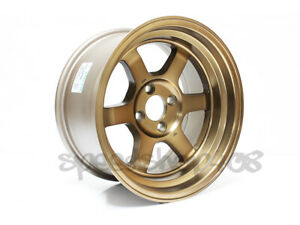 Rota Grid V Classic Wheels Sport Bronze 15x9 0 4x100 For Eg Integra Civic Miata