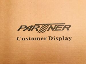 Partner Tech Cd 5220 cg Black Customer Display Screen New Manual