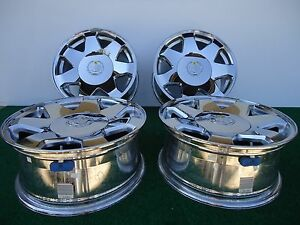 Set Of 4 Chrome Factory Escalade Wheels Rims 2002 2006 17 P N 9593884 Genuine