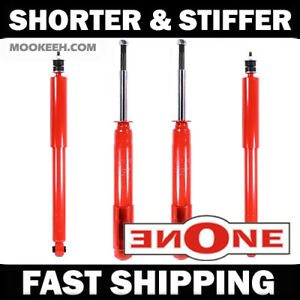 Mk1 Stiff Shorter Front Rear Shocks For Lowered 87 93 Mustang V6 Gt Gs2834