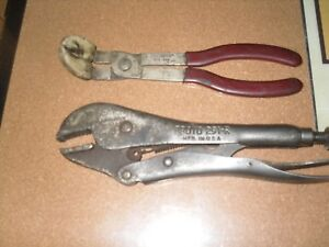 Vintage Proto 2 Pc Pliers 253 Locking Plier Vise Grips 291 R Usa