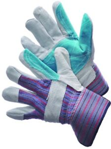 Premium Work Gloves Leather Double Palm Shoulder Leather 2 1 2 Rubberized Cuff