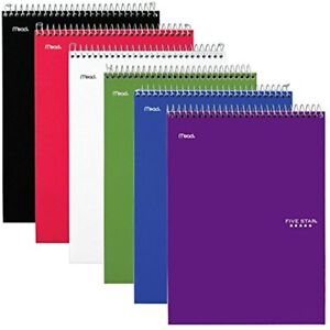Spiral Notebooks 1 Subject College Ruled Paper 100 Sheets 11 X 8 1 2 Size