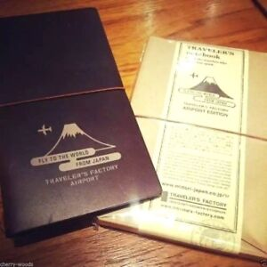 Narita Limited Travel Midori Traveler s Note Book Airport Edition Leather Cover