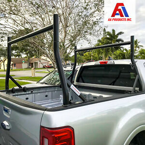 Universal Pickup Truck Ladder Rack Heavy Duty 800lb W Clamps Contractor Utility