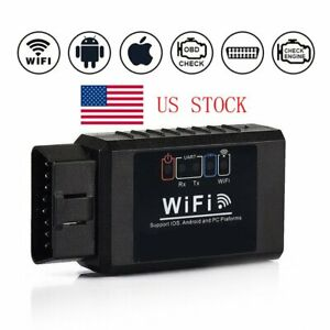 Auto Car Fault Obd2 Diagnostic Tool Scanner Code Reader For Iphone Android Usa