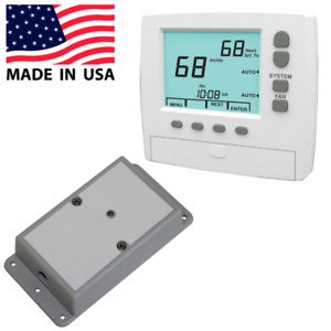 Wireless Thermostat Kit Universal 3 heat 2 cool 7 day Programmable Made In Usa