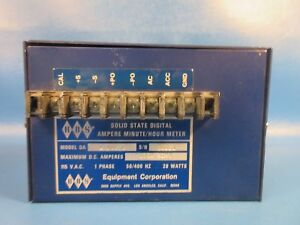 Used Hbs Equipment Corp L100c 100a 50mv Digital Ampere Minute hour Meter
