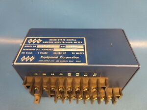 Used Hbs Equipment Corp Lf50b 50a 50mv Digital Ampere Minute hour Meter