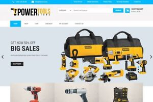 Power Tools Store Established Turnkey Website Online Business For Sale