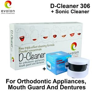 D Cleaner Orthodontic Appliances Mouth Guards Dentures Prostheses Sonic Clean