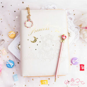 Sailor Moon Princess Notebook Student Planner Schedule Loose leaf Diary Pen Hot