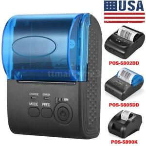 Portable 58mm Bt Wireless Thermal Receipt Printer F ios Android Wins us Stock