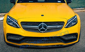 Euroteck Racing Mercedes Benz W205 C63 Amg Coupe Carbon Fiber Front Lip Spoiler